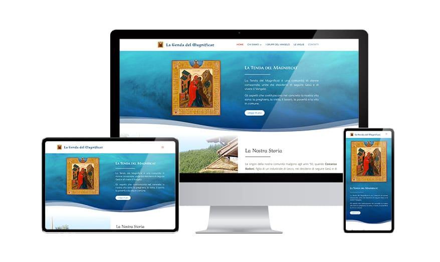 Creazione sito web Associazione La Tenda del Magnificat
