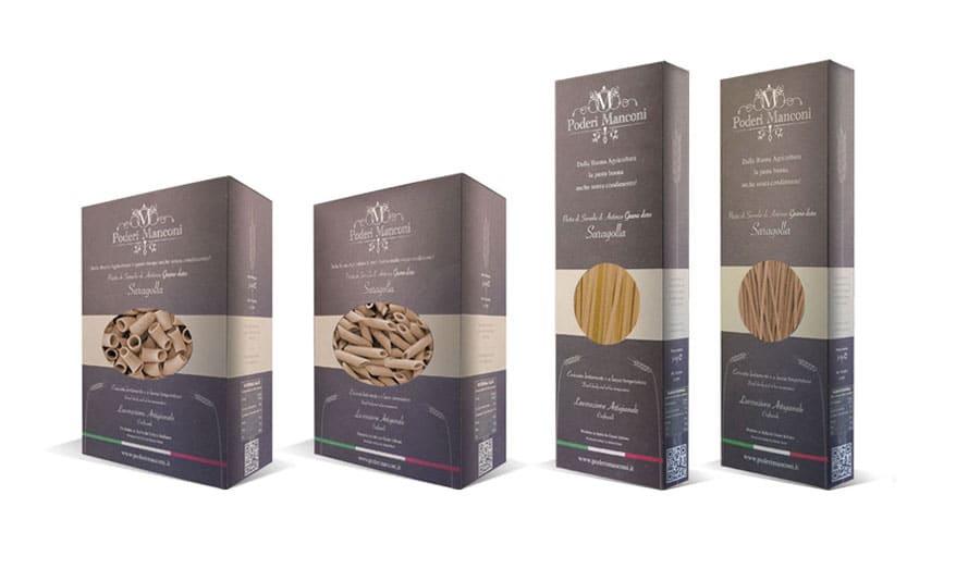 Realizzazione Grafica Confezioni di pasta - Ascoli Piceno