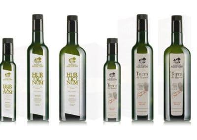 Realizzazione grafica Varie etichette bottiglie di olio - Petritoli