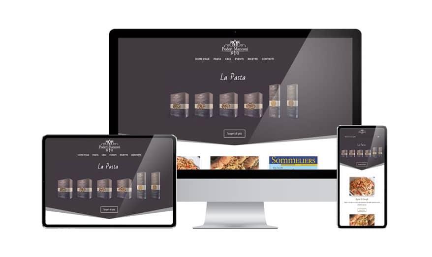 Creazione sito web Pastificio Manconi - Ascoli Piceno
