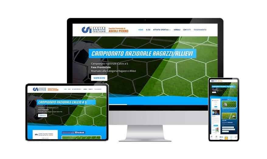 Realizzazione sito web Csi ascoli piceno