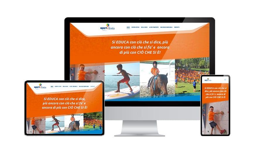 Creazione Siti Web SITO WEB - Sport & Festa