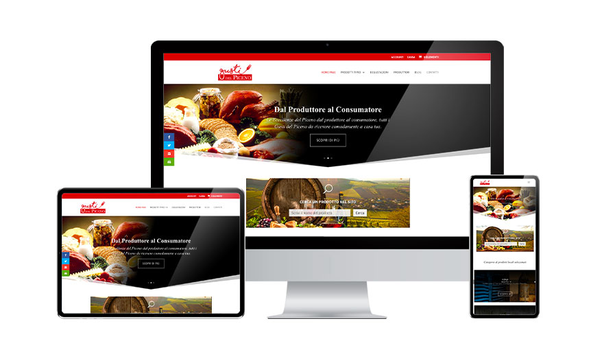 Creazione Siti Web E-commerce Gusti del Piceno